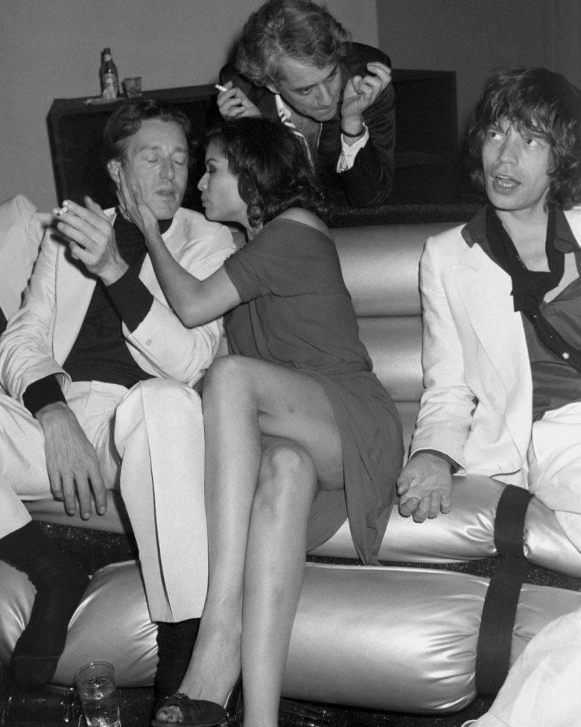Halston, Bianca Jagger, Mick Jagger
