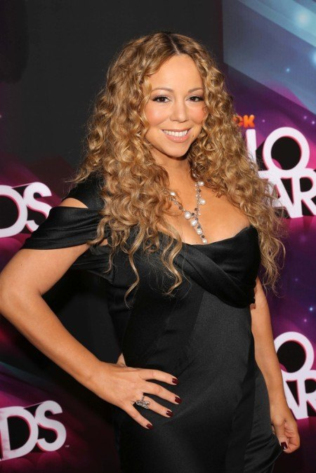 Mariah Carey's curly hair