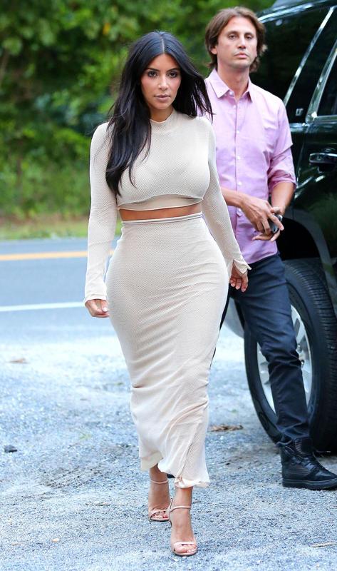 Kim Kardashian went nude