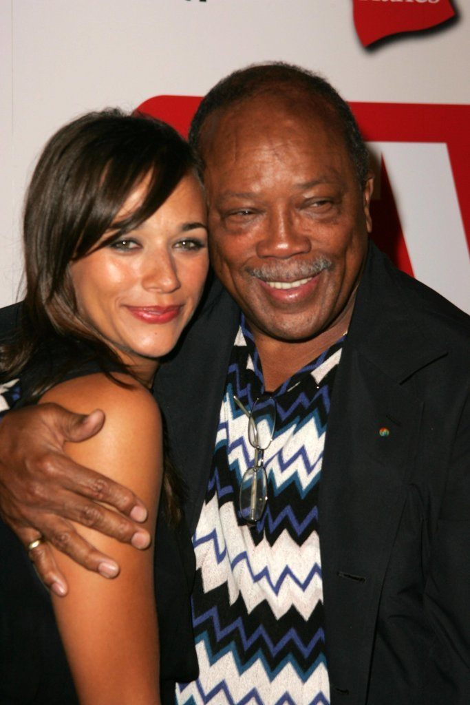 Rashida Jones and Quincy Jones at the TV Guide Emmy After Party August 27, 2006 in Social, Hollywood, CA.