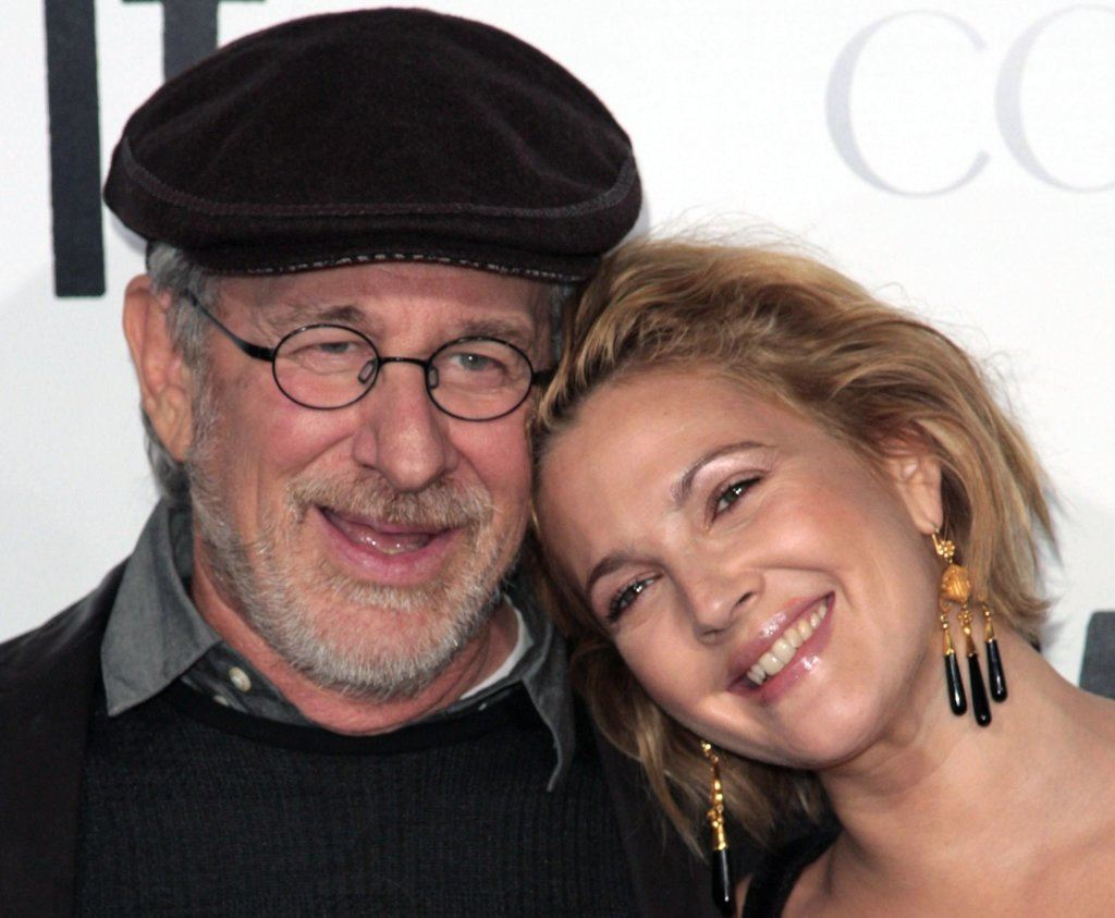 Drew Barrymore and Steven Spielberg