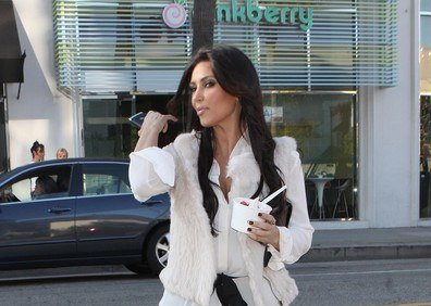 kim kardashian went to pink berry