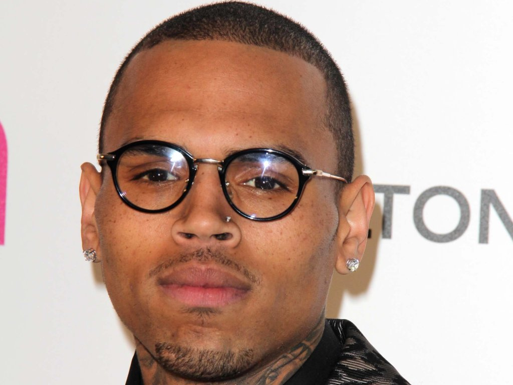 Chris Brown with glasses