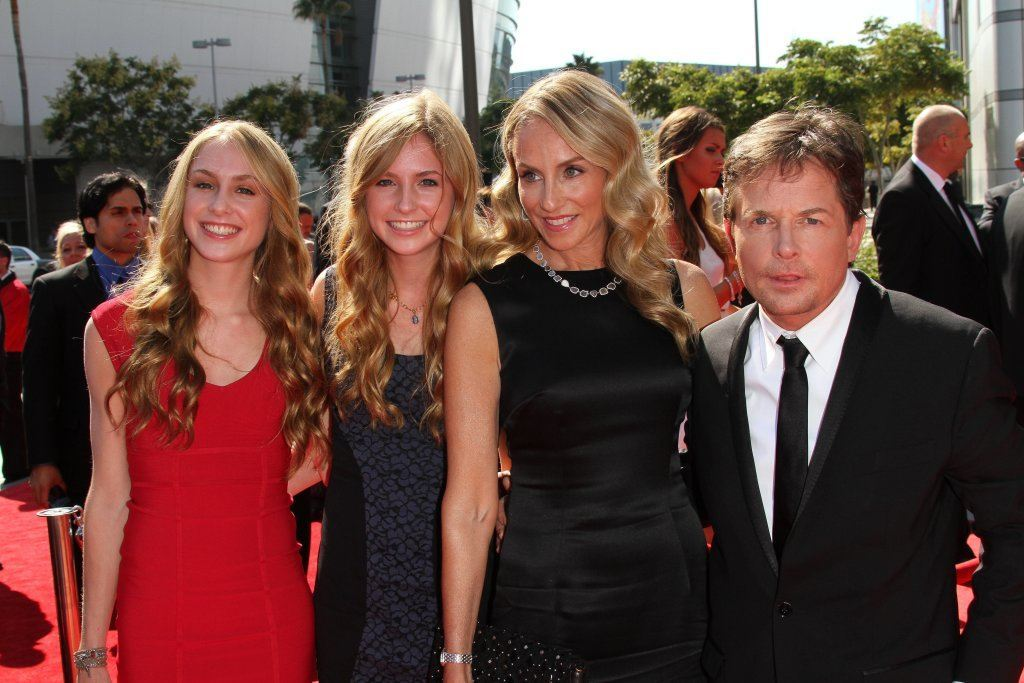 michael j fox and family