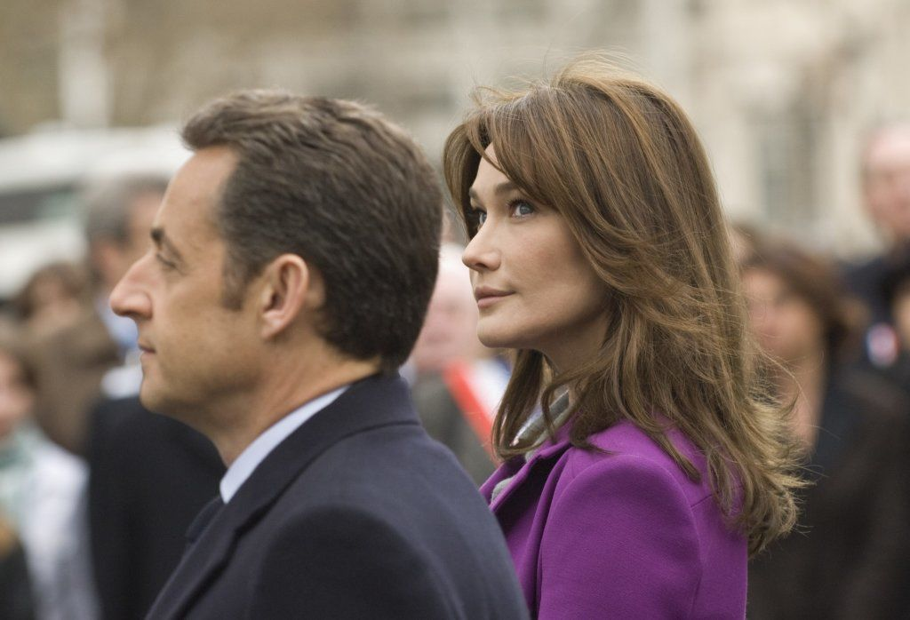 President Nicolas Sarkozy Of France And His Wife Carla Bruni-Sarkozy