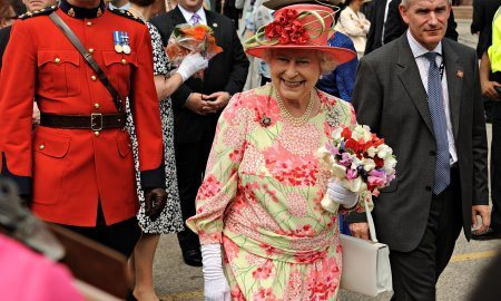 The Queen, Dressed In Bright Pink