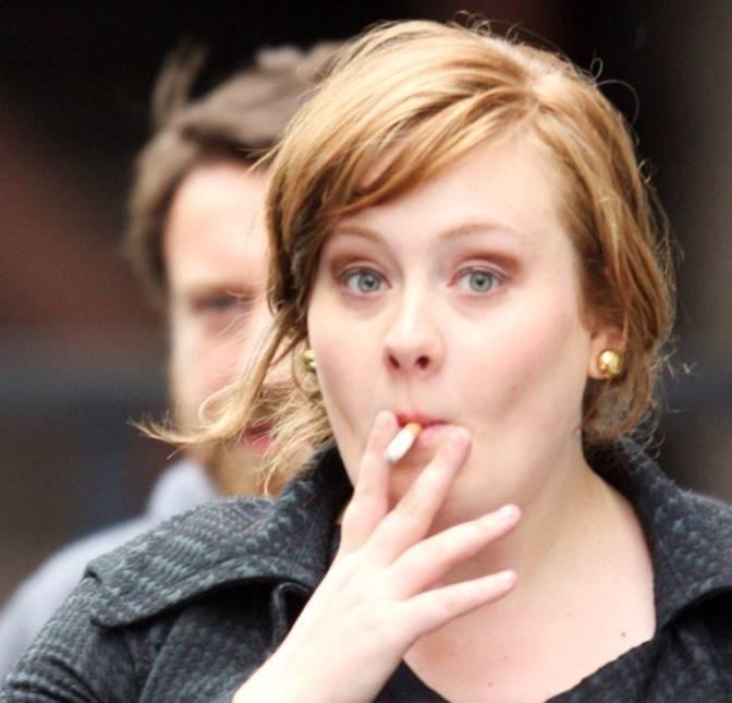 adele smoking