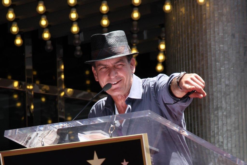 Charlie Sheen At The Hollywood Walk Of Fame Ceremony