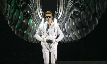 Justin Bieber with wings