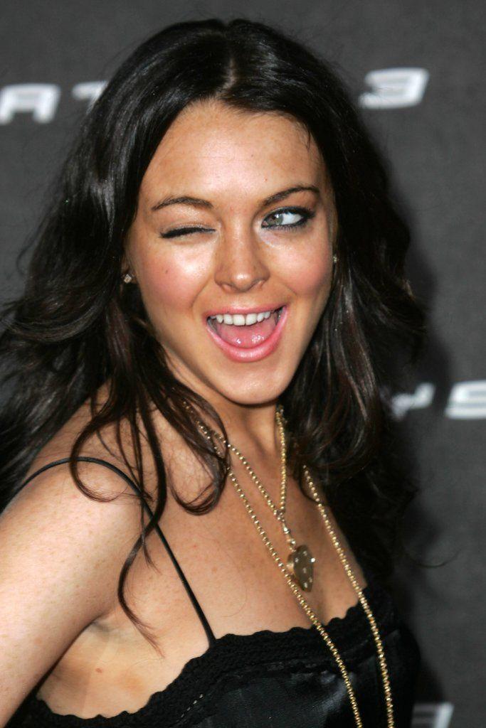 Lindsay Lohan Winking