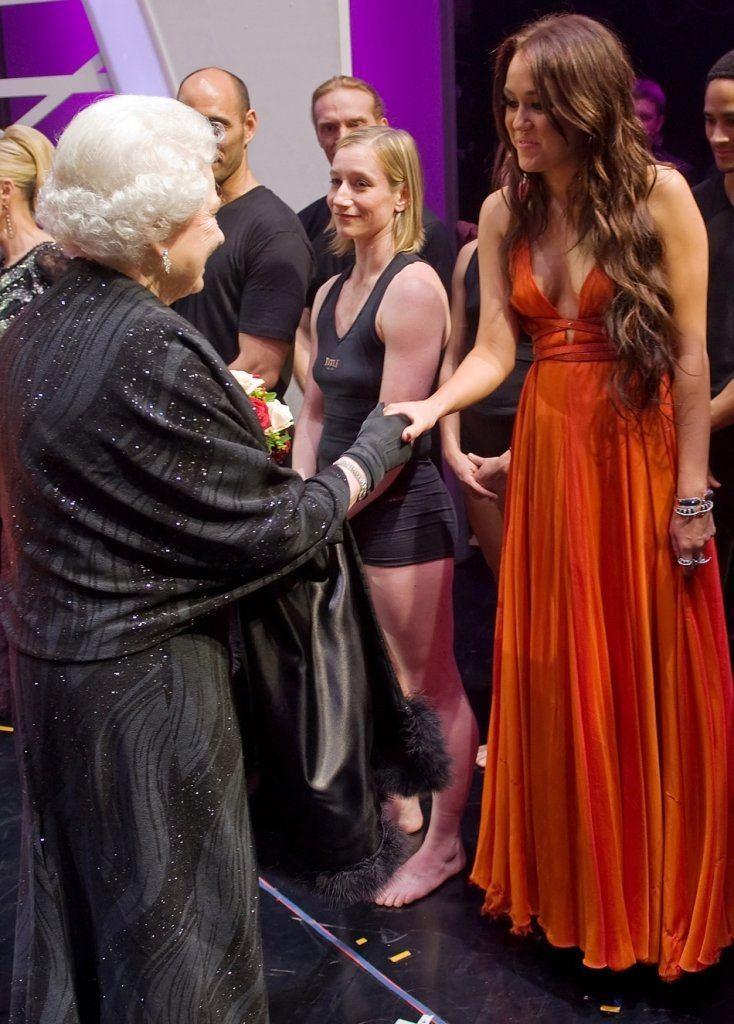 Miley met the Queen