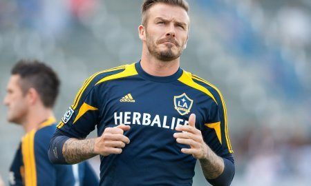 David Beckham Warms Up
