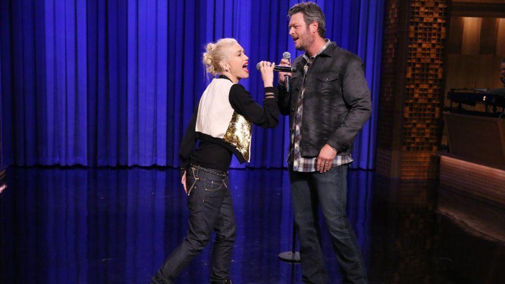 Gwen and Blake on Tonight Show