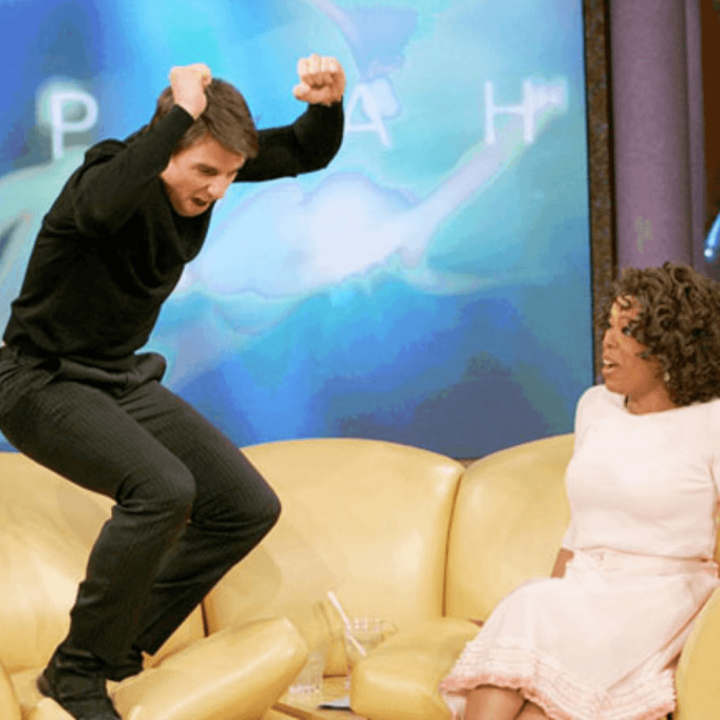 Tom Cruise jumping
