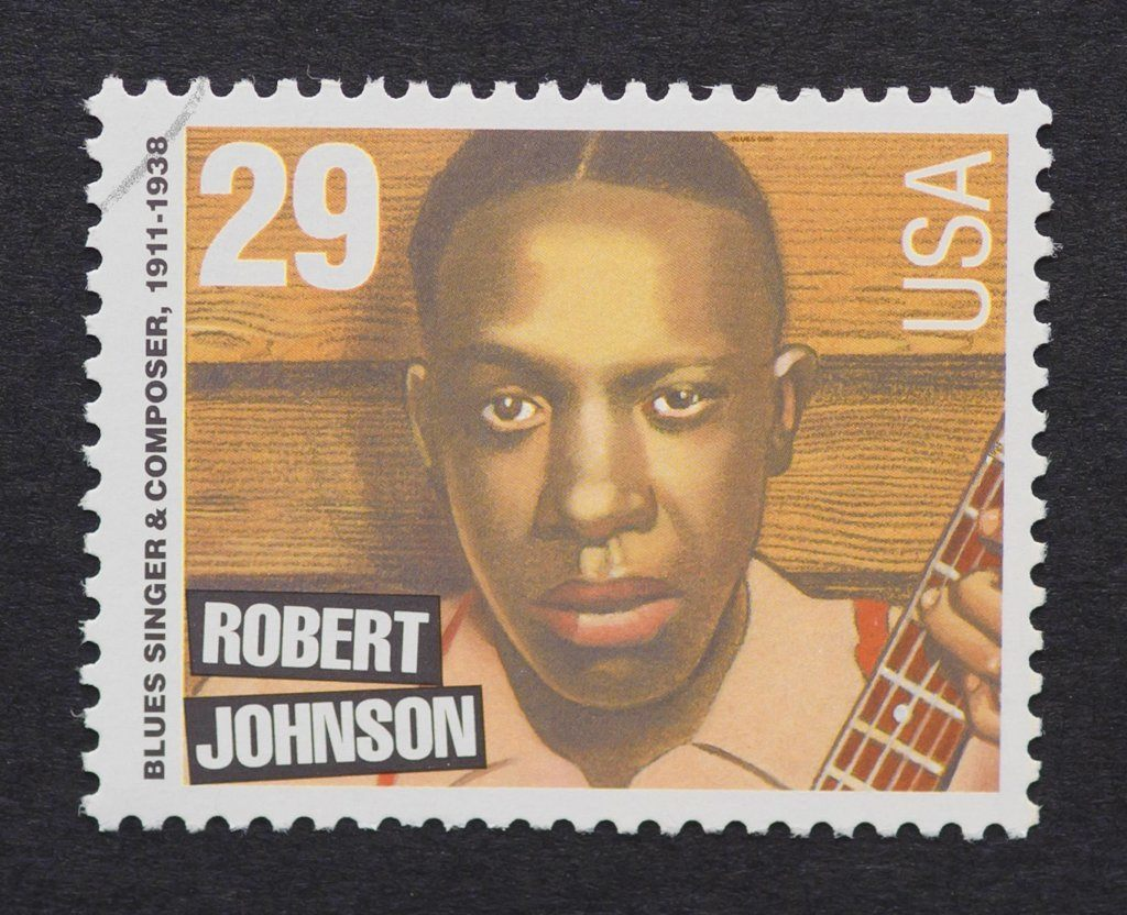United States - Circa 1994: A Postage Stamp Printed In Usa Showing An Image Of Robert Johnson, Circa 1994.