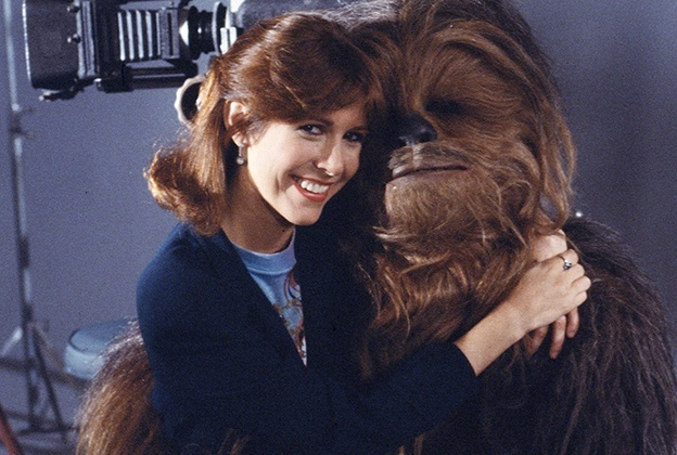 Chewbacca-and-carrie-fisher