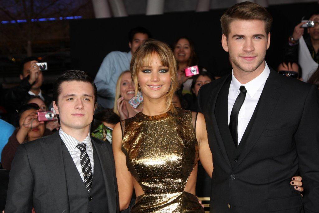 Josh Hutcherson; Jennifer Lawrence; Liam Hemsworth