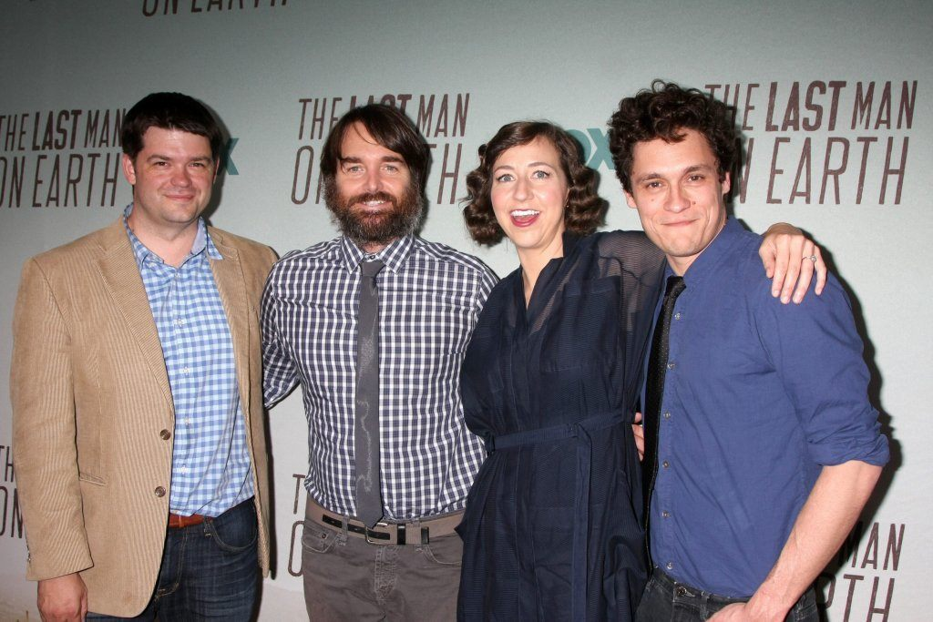 Los Angeles - Jun 10:  Christopher Miller, Will Forte, Kristen Schaal, Phil Lord of Last Man On Earth