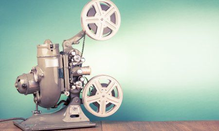 Retro Old Reel Movie Projector