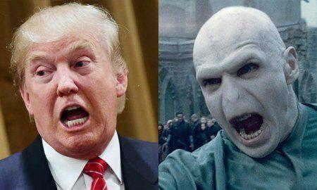 Trump as Voldemort