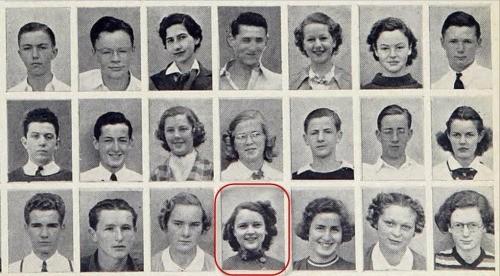 Betty White in high school