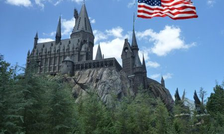 Hogwarts and American flag