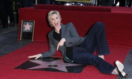 Jane Lynch At The Hollywood Walk Of Fame Ceremony