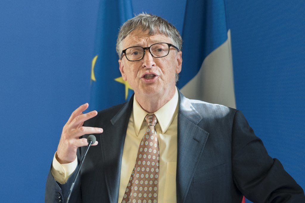 Paris, France - June 25, 2015 :Bill Gates During The Signing Of A Partnership Vaccination In The Sahel With France At French Ministry Of Foreign Affair.