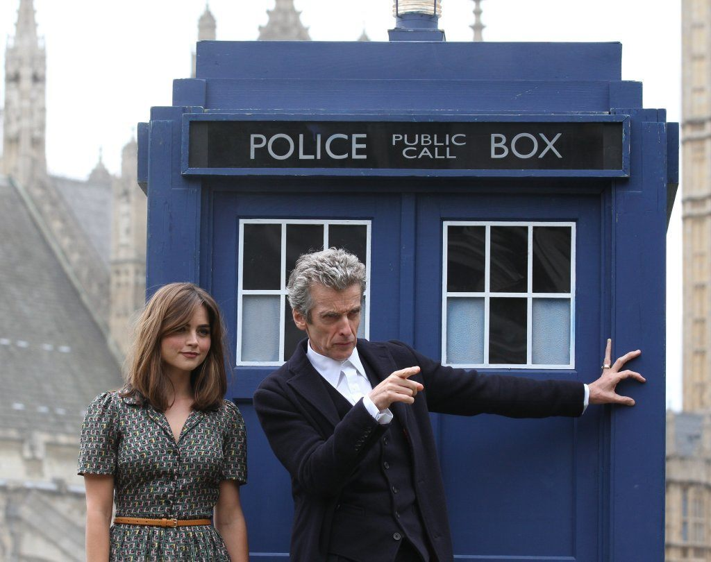 Peter Capaldi And Jenna Coleman Promoting Dr. Who