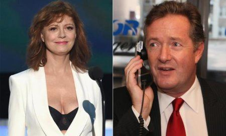 Susan Sarandon at SAG and Piers Morgan