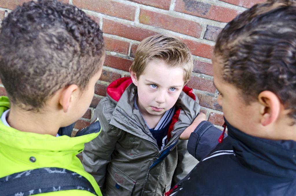 Big Bullies Teasing Small Kid