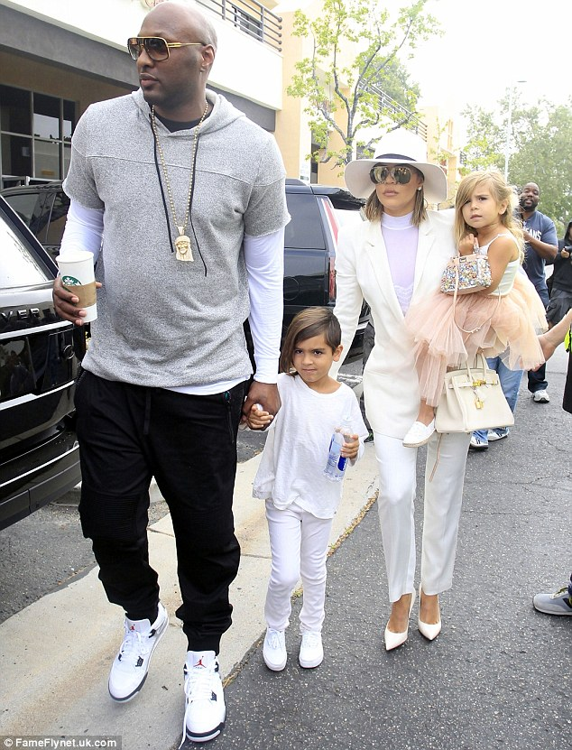 Lamar and Khloe Easter