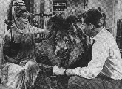 Jeannie and lion