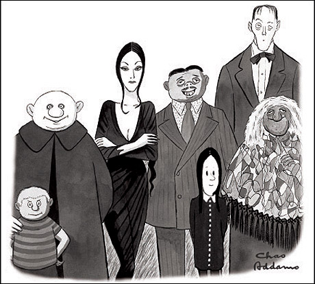 addams family cartoon