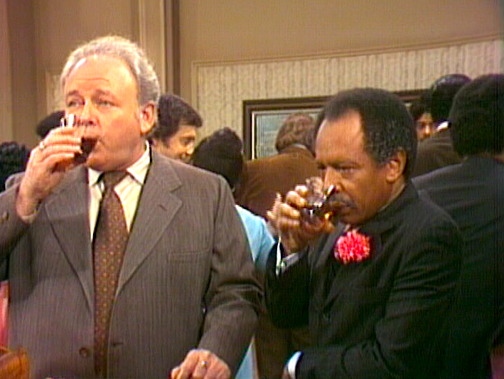 Archie Bunker and George Jefferson
