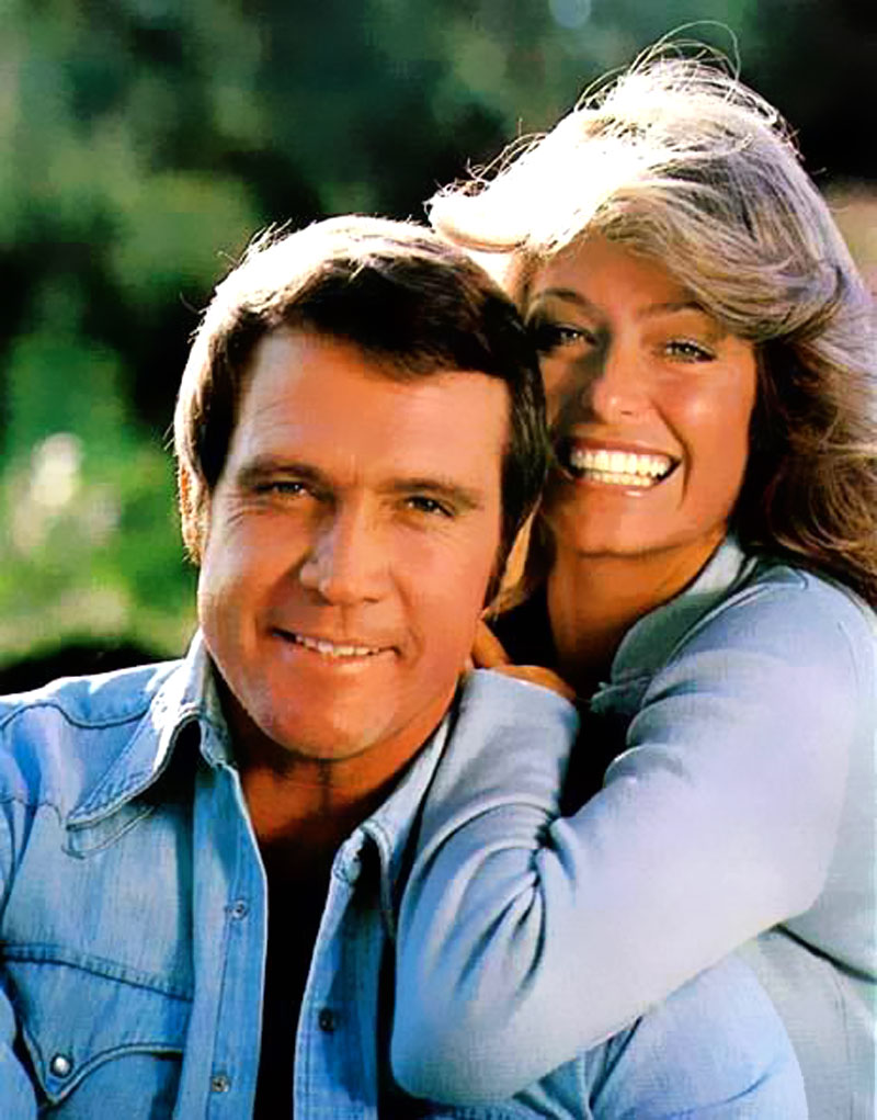 Farrah and Lee Majors