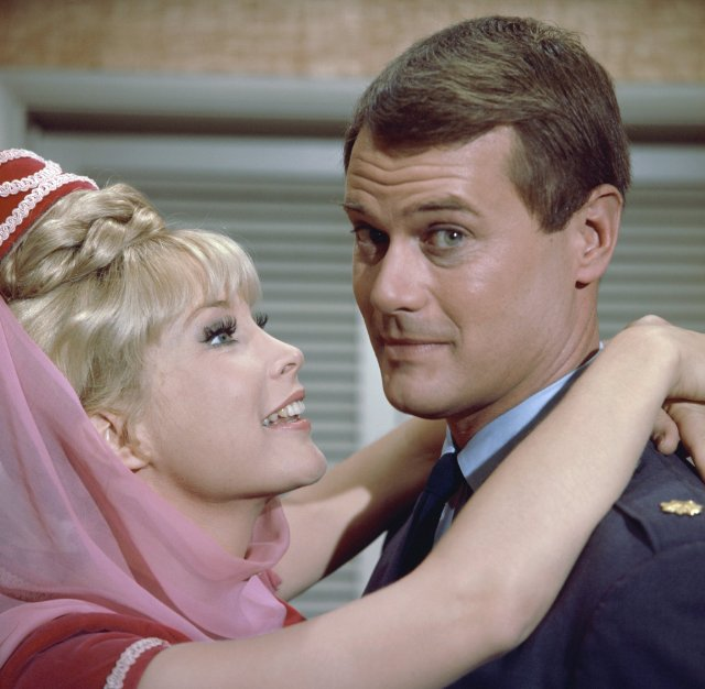 Larry Hagman and Jeannie