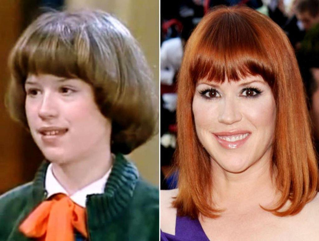 Molly Ringwald then and now