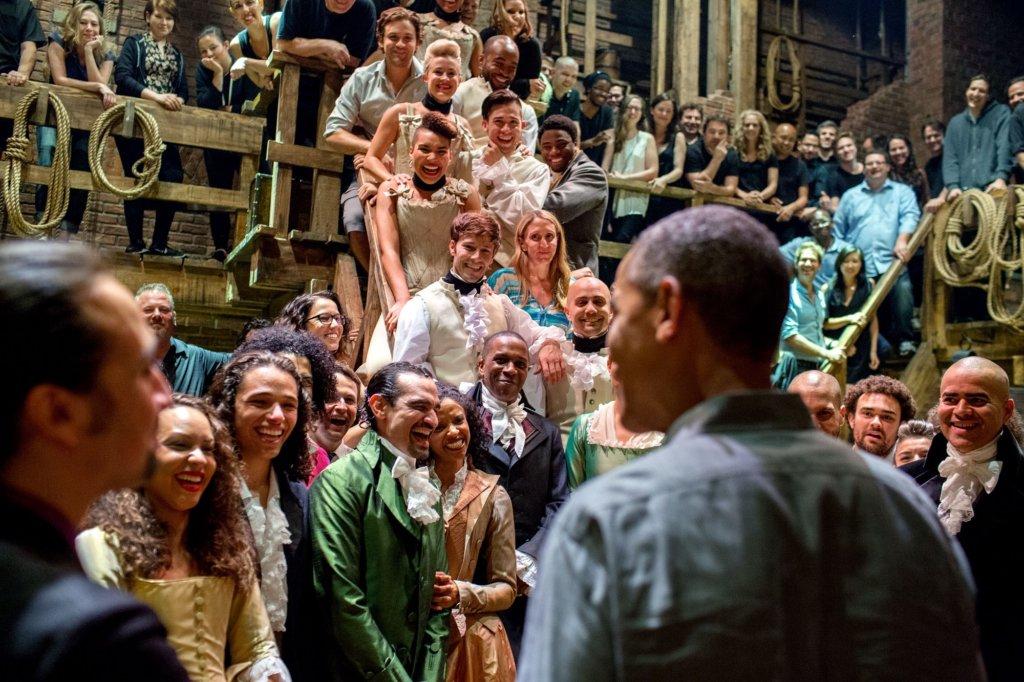 Hamilton meets Barack Obama.