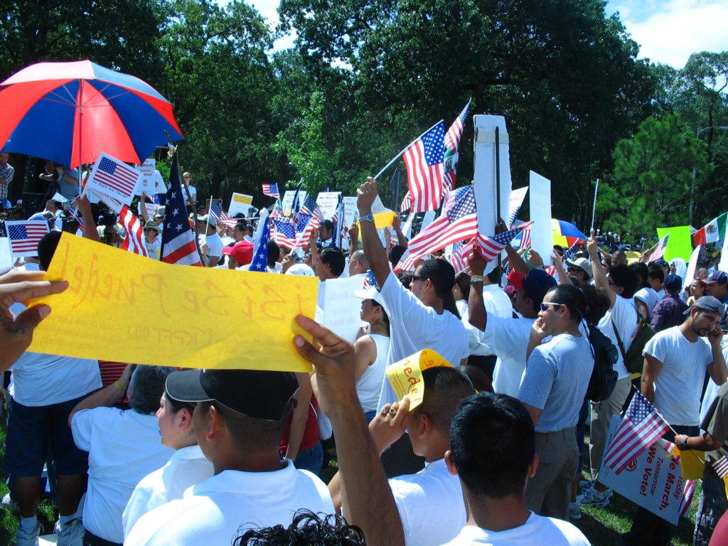 Immigrant protestors