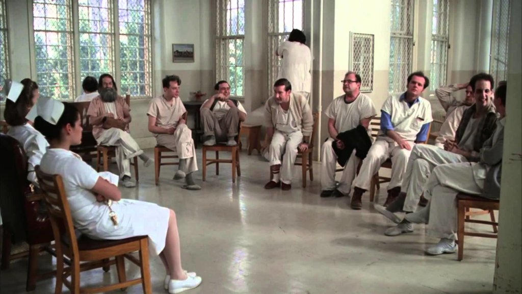 One Flew Over the Cuckoo's Next group therapy