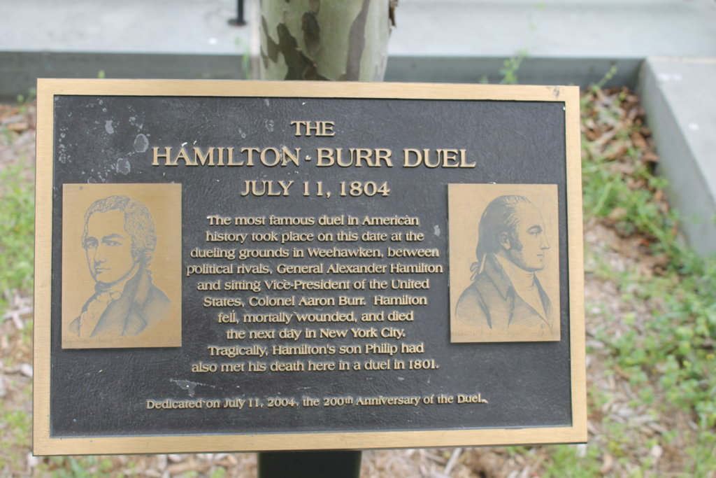 The  famous Hamilton and Burr Duel