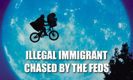 ILLEGAL IMMIGRANT CHASED BY THE FEDS
