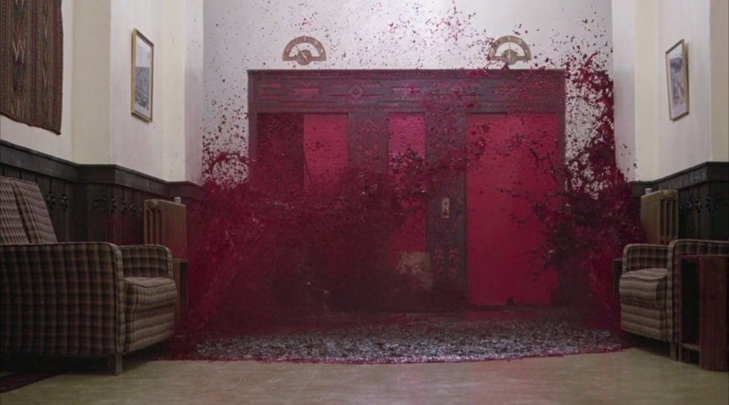 elevator blood in The Shining