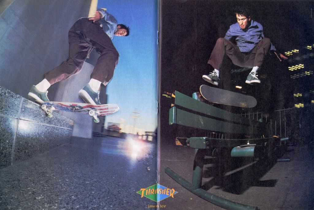 Jason Lee skateboarding