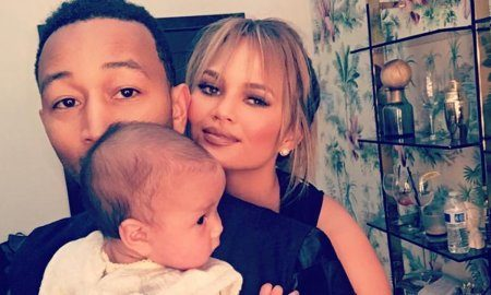 John Legend, Chrissy Teigen and Luna