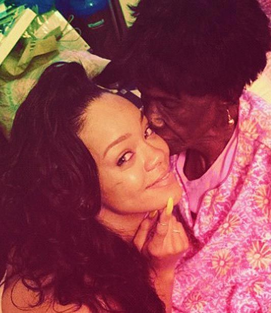 Rihanna and grandmother