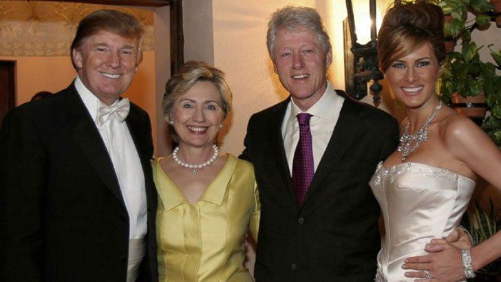 Hillary Clinton, Bill Clinton, Donald Trump & Ivanka Trump