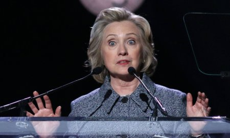 Hillary Clinton Looks Lke a Rabbit in the Headlights in This Picture