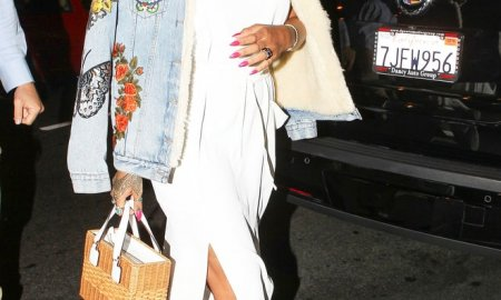 rihanna wicker bag